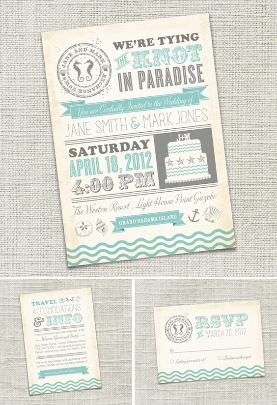 Love the color palette and theme of these invites