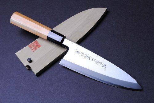 yoshihiro namiuchi ao ko blue steel deba sashimi sushi chef knife 7 7 195mm made in japan. Black Bedroom Furniture Sets. Home Design Ideas