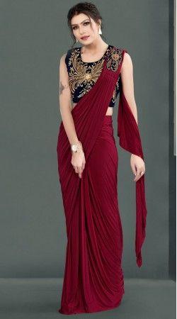 Saree Blouse Readymade  Maroon Saree Blouse Ready to Wear Saree Blouse,Saree Blouse Sari Blouse Indian Sari