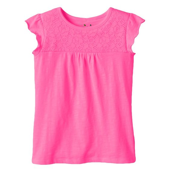 Girls 4-10 Jumping Beans® Floral Lace Tee