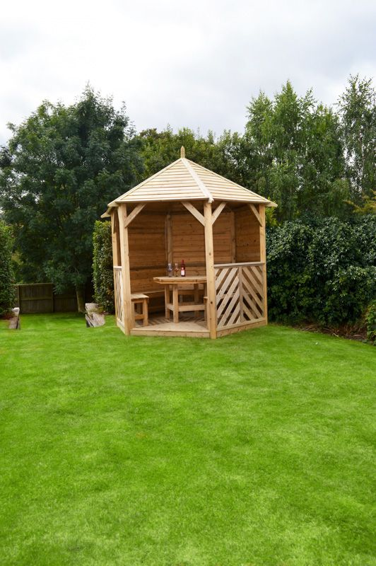 Stupendous Woodshaw Willoughby Gazebo With Table 5 Benches Solid Ibusinesslaw Wood Chair Design Ideas Ibusinesslaworg