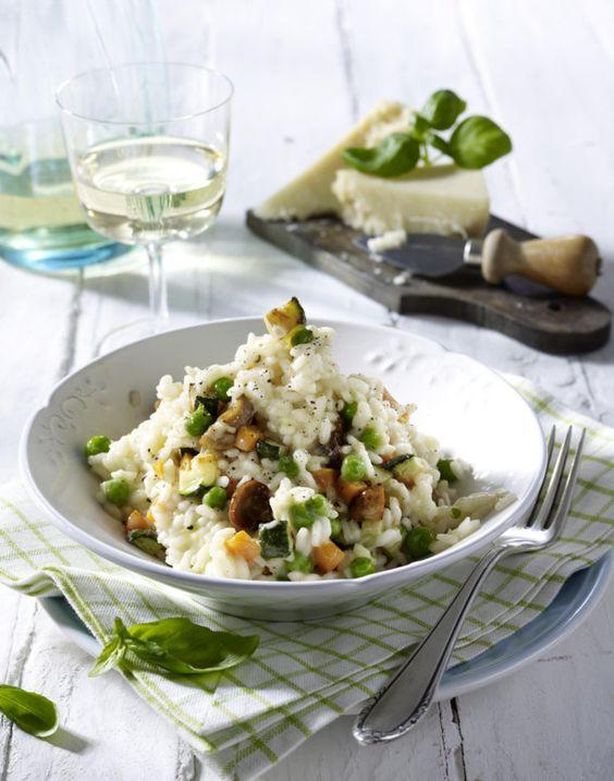 Unser beliebtes Rezept für Risotto Primavera (mit Möhren, Champignons, Zucchini und Erbsen) und mehr als 55.000 weitere kostenlose Rezepte auf LECKER.de.