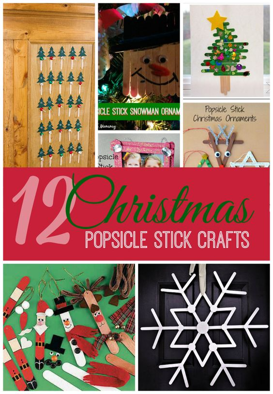 Popsicle stick crafts for christmas fun for kids for Christmas projects with popsicle sticks