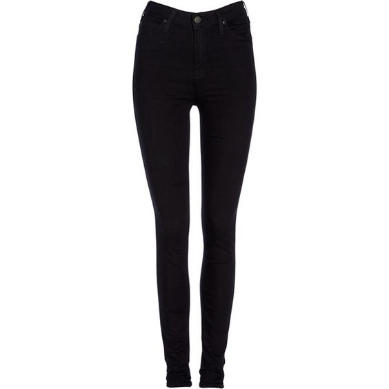 Lee Skyler High Waist Skinny Jeans , Black found on Polyvore | Top ...