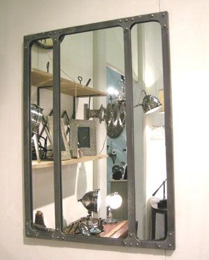 miroir esprit atelier chehoma m tal pm miroir atelier. Black Bedroom Furniture Sets. Home Design Ideas