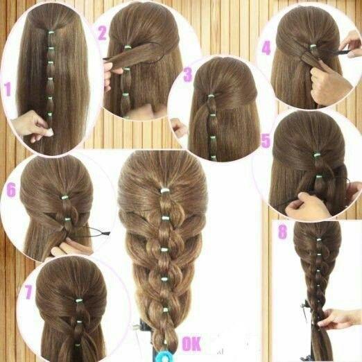 Estos Peinados Haran Que Luzca Como Una Princesa Peinados Para Ninas Faciles Peinados Faciles Pas Braided Ponytail Hairstyles Hair Styles Long Hair Styles