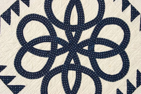 Celtic Knots Quilt: Circa 1870; Pennsylvania (detail)