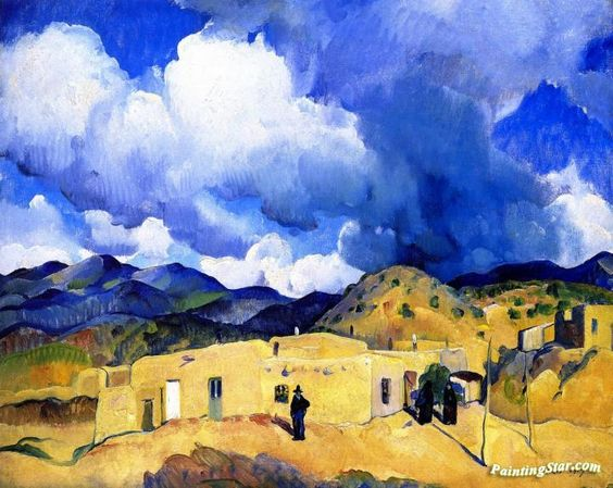 Santa Fe Hills Artwork by Leon Kroll Hand-painted and Art Prints on canvas for sale,you can custom the size and frame