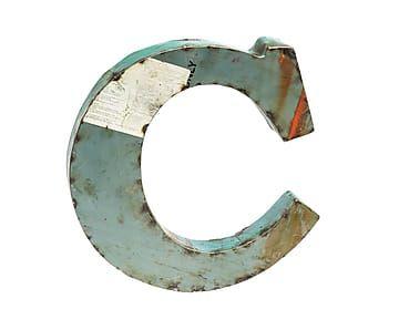 Letra de hierro decorativa c letras pinterest - Letras de hierro ...