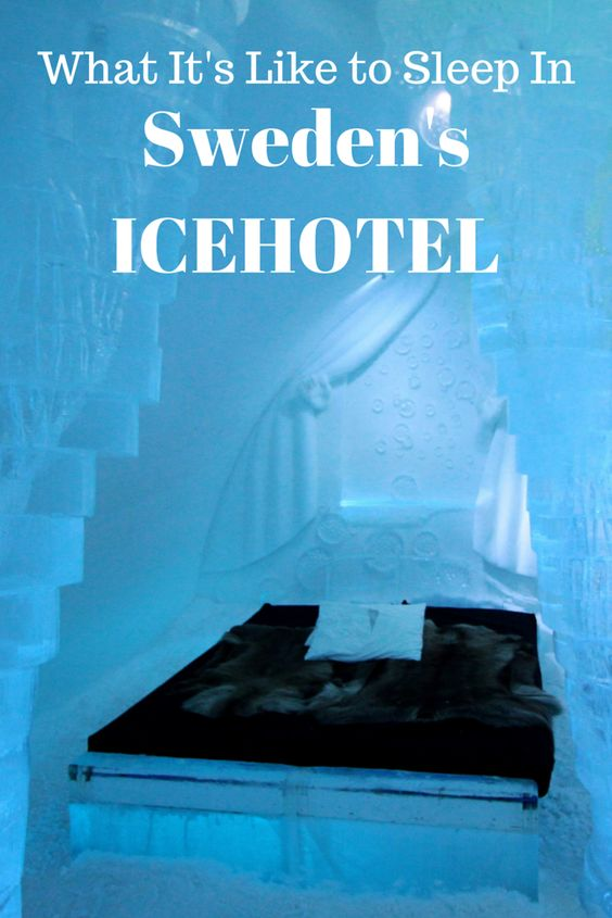 Ever wondered what it's like to sleep in an ice hotel? Here's everything you ever wanted to know about Sweden's ICEHOTEL in the town of Jukkasjärvi in Swedish Lapland, the original ice hotel. #Sweden #ICEHOTEL #travel