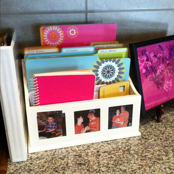 kitchen counter organizer mail kitchen counter organization with folders duh thanks 6637