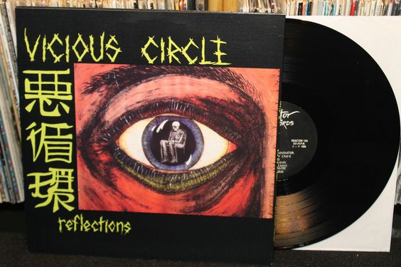 """Vicious Circle """"Reflections"""" LP with fold-out insert (Australian Hardcore Punk 1986 Vinyl Record)"""