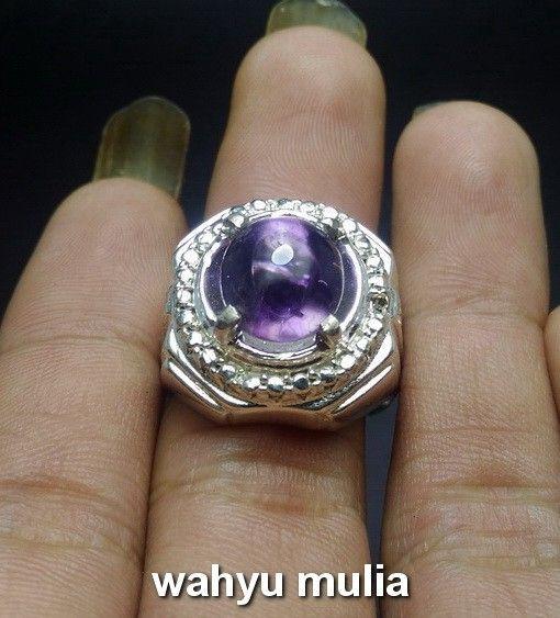 Dijual Cincin Batu Kecubung Ungu Ametis Bungur Tanjung Bintang Super Asli Kecubung Cincin Ametis