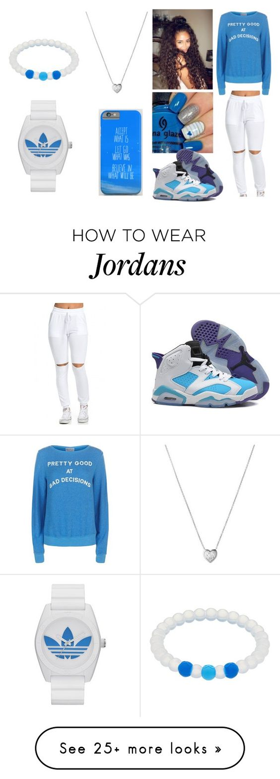 """""""Untitled #122"""" by gigibaby7 on Polyvore featuring adidas, Wildfox, NIKE, Links of London, cute, casual, white, Blue and Silver"""