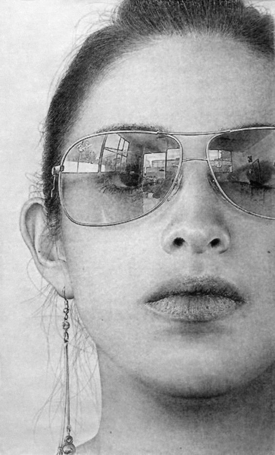 how to draw realistic sunglasses