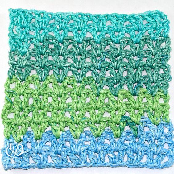 Ravelry: V-Stitch Dishcloth pattern by Oombawka Design