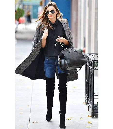 Style 101: How to Wear Your Jeans With Boots | High boots, Thigh ...