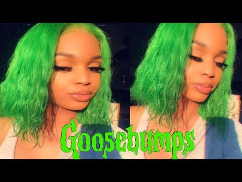 How To Slime Green Bob Water Color Method Yolissa Hair