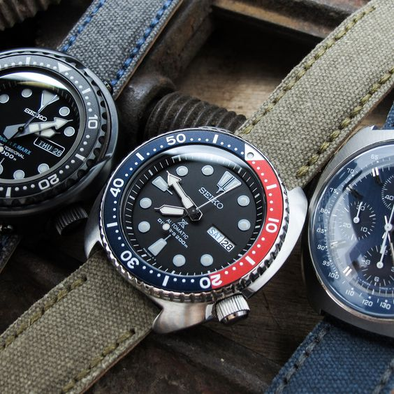 Dressing up with #MiLTAT 1-piece watch straps #strapcode #seikodiver #omega