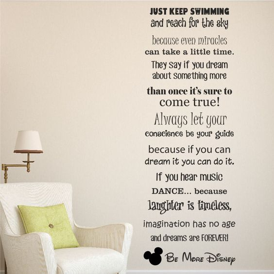 Beautiful Be More Disney Wall Sticker Decal, Disney Sayings Making Up An Amazing Wall  Art Sticker. | Disney Wall Stickers | Pinterest | Wall Sticker, ... Part 4