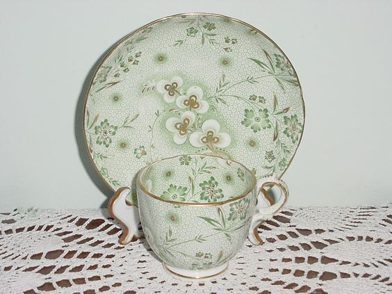 Machin & Potts English bone china; probably dates to the 1830s, and is the oldest set in my collection