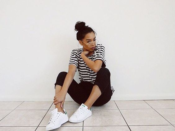 """""""Posted a """" How I style Adidas Stan Smith """" on my channel ! ( link in my bio )"""""""