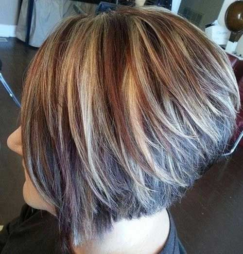 Superb Highlighted Bob Bob Hairstyles And Bob Hair Color On Pinterest Hairstyles For Women Draintrainus