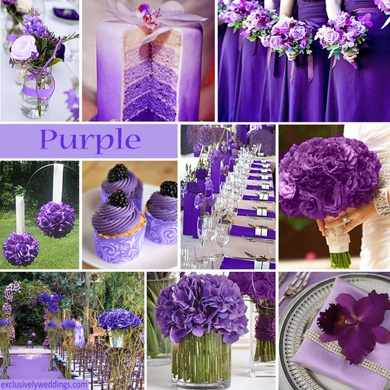 Purple Wedding Colors Color Combinations And Colors On