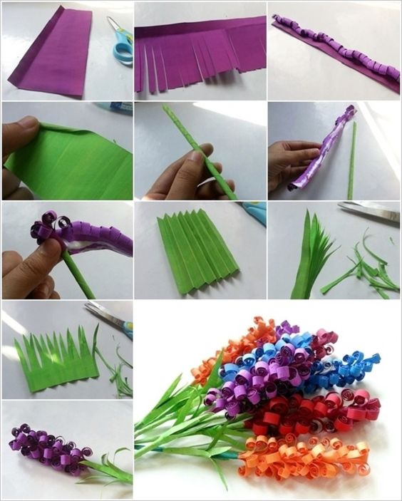 Swirly paper flowers craft for teenagers i think i can for Easy paper crafts for teens