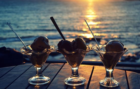 Greek home made ice cream.