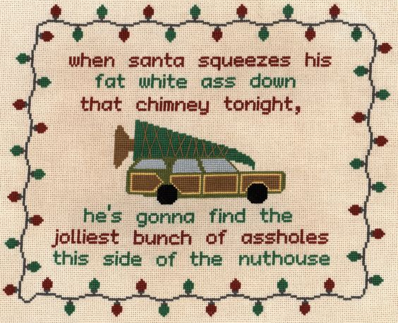 Christmas Vacation quote cross stitch chart - Instant PDF download - purchase quotation