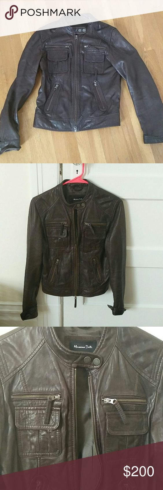Leather jacket europe - Brown Leather Jacket 100 Sheep Skin Beautiful Leather Jacket 100 Sheep Skin Purchased In Europe 2 Years Old But Rarely Worn And In Fantastic Condition
