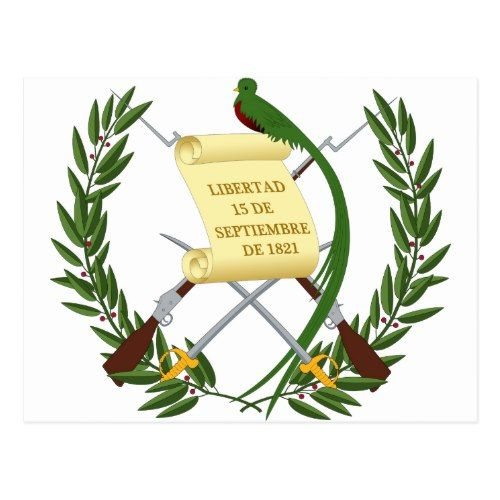 Guatemala Coat Of Arms Postcard Zazzle Com Coat Of Arms Guatemala Flag Guatemala