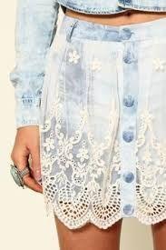 Resultado de imagem para jeans com renda