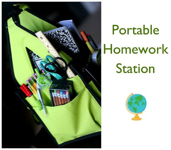 portable homework station via @Kim Demmon (today's creative blog)