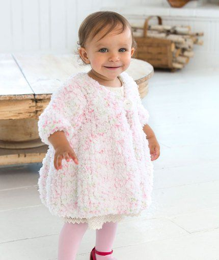 Baby Swing Coat Free Knitting Pattern |  Free Baby and Toddler Sweater Knitting Patterns including cardigans, pullovers, jackets and more http://intheloopknitting.com/free-baby-and-child-sweater-knitting-patterns/