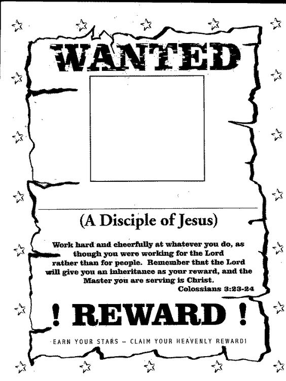 printable sunday school charts Click on the poster to print out - free printable wanted poster