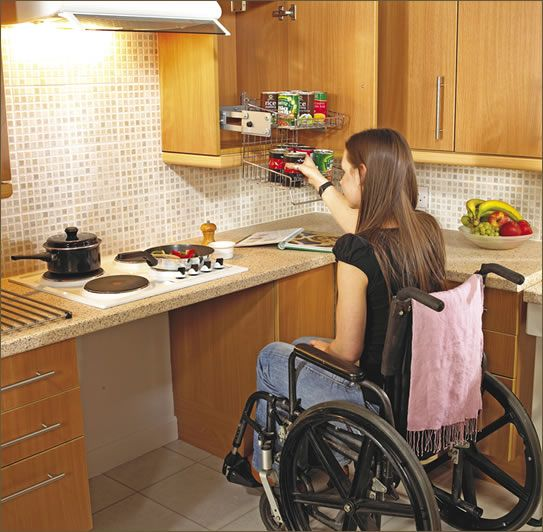 kitchen design for wheelchair user they need it too