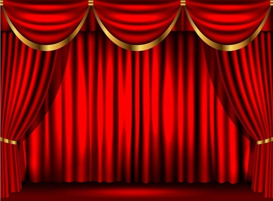 Entrance Red Curtain Backdrop Banner Oriental Trading Red