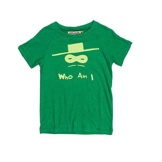 """Who Am I"" T-Shirt Green - little hanbury"