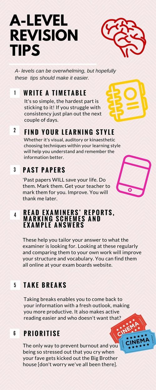 - tips for studying