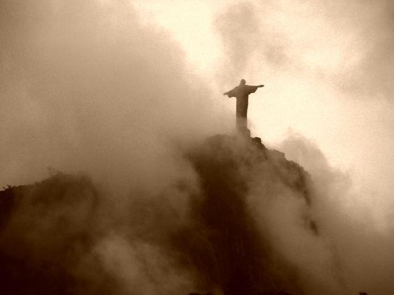 Christ the Redeemer Statue, Foggy Day, Rio de Janeiro
