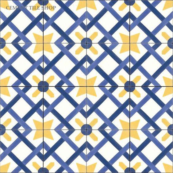 Alternative Master Bath Floor Tile Option Cement Tile
