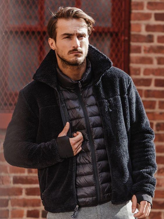 Burkman Bros Black Cozy Fleece Jacket - XL