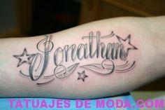 Fotos De Tatuajes De Nombre Jonathan Tatuaje De Nombre Tatuajes De Nombres Imagenes De Nombres