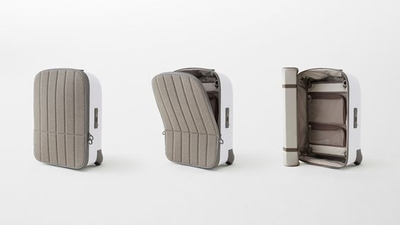 Nendo's cabin baggage has a hard shell and a soft front like a tortoise.