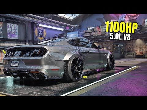 Need For Speed Heat Gameplay 1100hp Ford Mustang Gt Rtr Customization Max Build 400 Youtube
