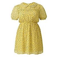 Cutie Spot Print Retro Dress - Large Size Clothing and Maternity Wear - www.plussizedglamour.co.uk