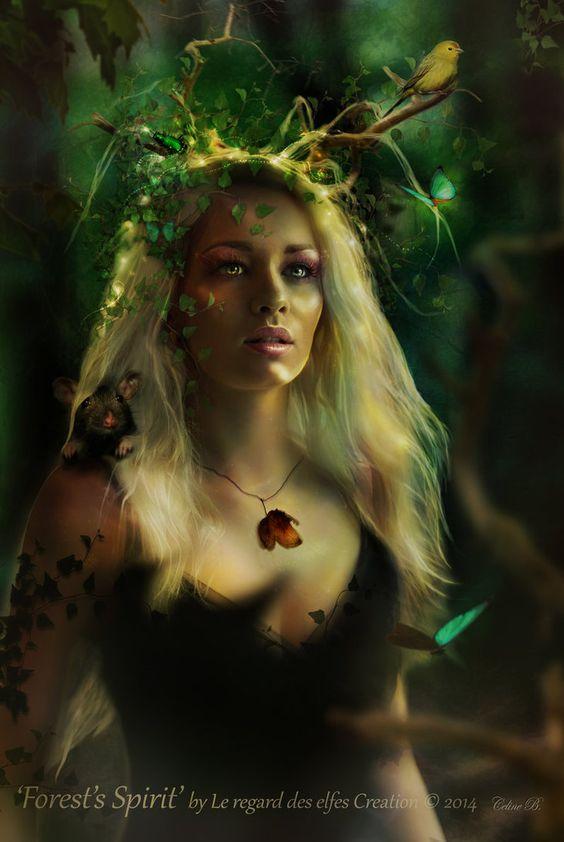 Forest's Spirit by Le-Regard-des-Elfes on deviantART
