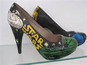 Women's Shoes Hand painted amazing Star wars shoes